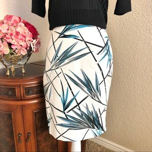 NEW WHBM Textured Print Skirt